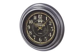 Reloj de pared de metal con diseño francés