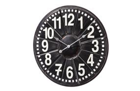Reloj de pared de metal clásico