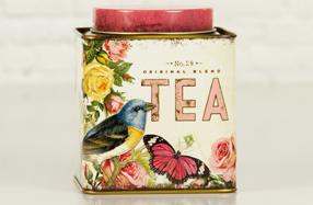 Caja de té con galletas gourmet artesanales