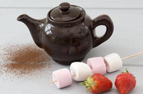 Tetera de delicioso chocolate