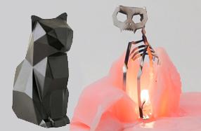 Pyropets: Velas de animales con esqueleto interior