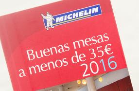 """""""Buenas mesas a menos de 35€"""" 2016 de Michelin"""