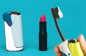 Cepillo de dientes con pasta incorporada para viajeros