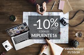-10% en escapadas combinandolas con cualquier otro producto