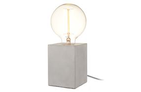 Lámpara bombilla en bloque de hormigón