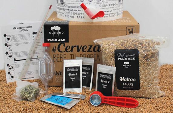 Kit para elaborar tu propia cerveza de marcas nacionales
