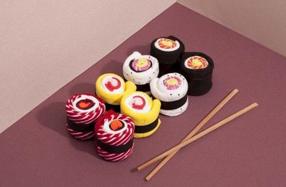 Calcetines maki para fans del sushi