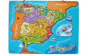 Puzzle magnético de España para niños