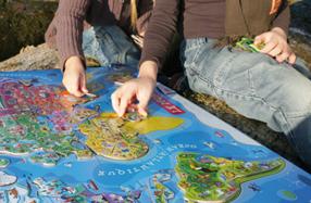 Puzzle magnético Mapa mundi gigante