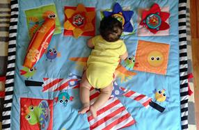 La manta de descubrimientos para bebés