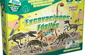 Kit de excavaciones fósiles para pequeños científicos