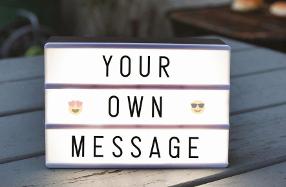 Cajas de luz mini para decorar con mensajes
