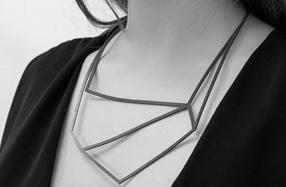Collares de silicona de formas geométricas