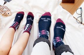 Los calcetines para grandes y pequeños 'gentleman'