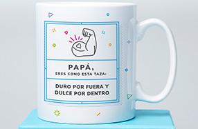 Taza para papás duros por fuera y dulces por dentro