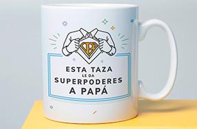 Taza con súperpoderes para papá