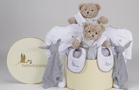 Canastilla de ropa de bebé especial para gemelos