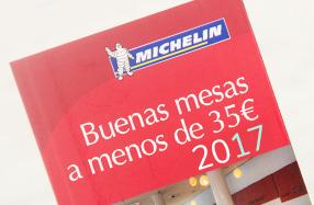 """""""Buenas mesas a menos de 35€"""" 2017 de Michelin"""