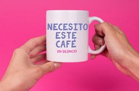 "Taza para mamás: ""Necesito café... En silencio"""