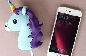 Batería portátil con forma de unicornio