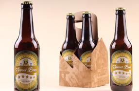 Pack de botellas de cerveza rellenas de gominolas