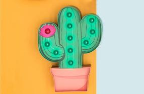 Lámpara con forma de cactus