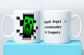 Taza personalizable para amantes de Minecraft
