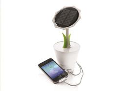 Cargador solar de girasol para móviles