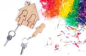 Llavero para parejas y hogares con orgullo
