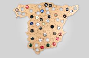 Mapa de chapas para cerveceros