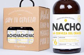 Pack de cerveza artesana con mensaje personalizado
