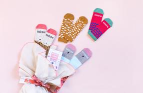 Saco de Cigüeña con calcetines para niña