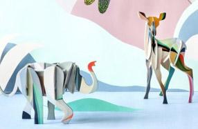 Decoración creativa con animales que se ensamblan