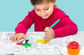 Manteles de papel para colorear