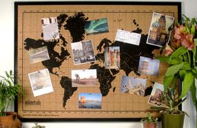 Mapamundi de corcho para tus viajes