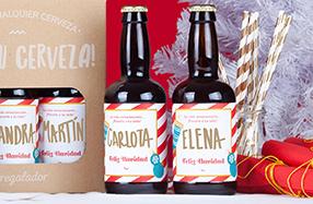 Pack de 6 cervezas navideñas personalizables