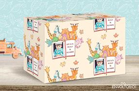 Papel de regalo personalizado modelo animalitos