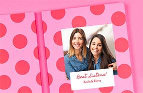 Libretas personalizables para hermanas y amigas
