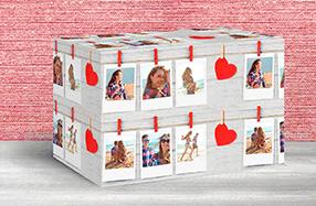 Papel de regalo personalizado modelo Polaroid