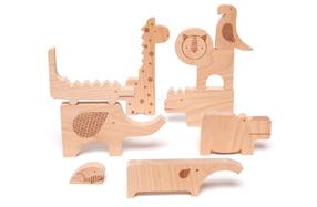 Puzzle de animales de madera para niños