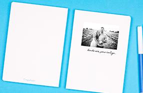 Libreta minimalista con foto personalizada