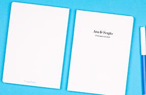 Libreta minimalista personalizable con nombre