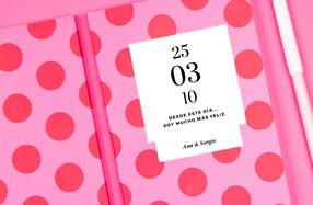 Libretas personalizables para un aniversario
