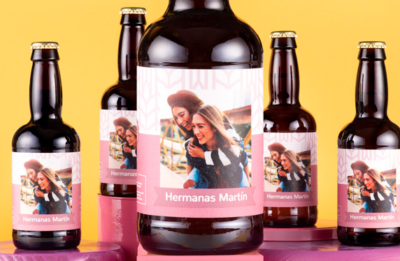 Pack de cervezas personalizables. Modelo Pink