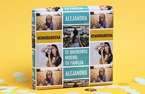 Papel de regalo personalizado modelo texto y fotos