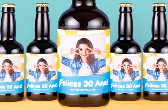 Pack de cerveza personalizada. Modelo Topos