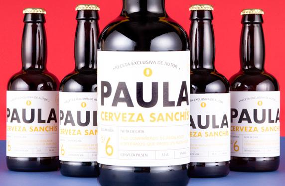 Pack de cerveza personalizada Modelo Minimal