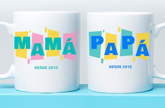 "Kit Taza ""Papá y Mamá desde 2018"""