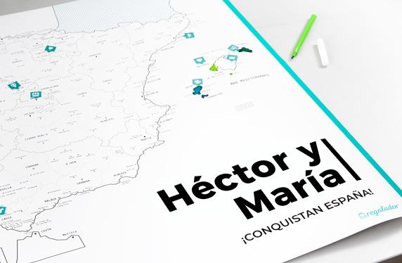 Mapa de España personalizado