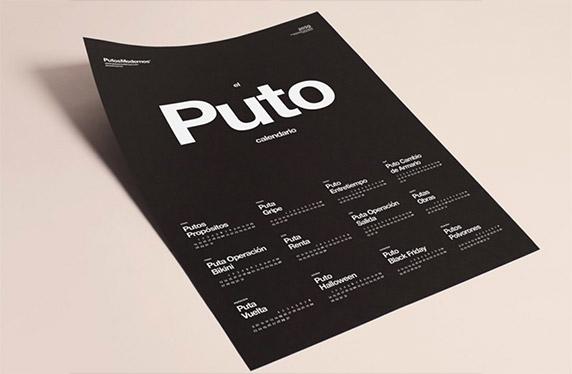 """""""Puto"""" calendario"""